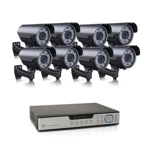 Kit vidéosurveillance 1 To avec 8 caméras AHD 1080P extérieures