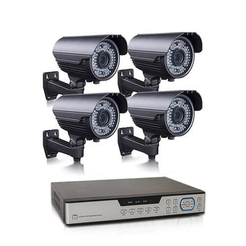 Kit vidéosurveillance 1 To avec 4 caméras AHD 1080P extérieures