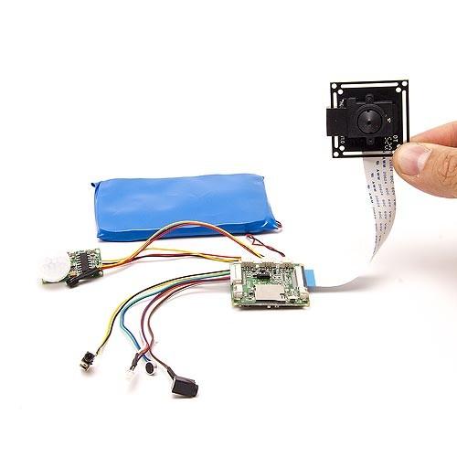 Module enregistreur sur micro SDXC et caméra 1080P avec capteur PIR