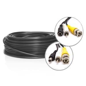 Câble vidéo RCA + alimentation de 25 mètres