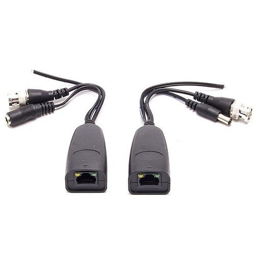 Câble balun RJ45 passif vidéo alimentation et données PTZ