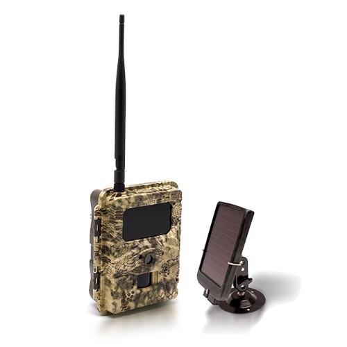 Caméra solaire de chasse autonome 3G HD 720P 8MP avec IR invisible, cryptage 256 bits et panneau solaire