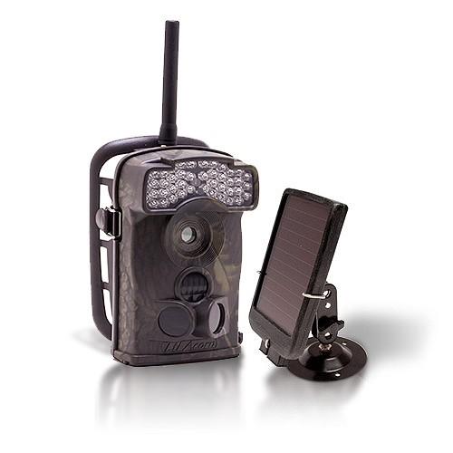 Dernière génération - Caméra de chasse alerte HD 720P envoi MMS e-mail IR avec chargeur solaire
