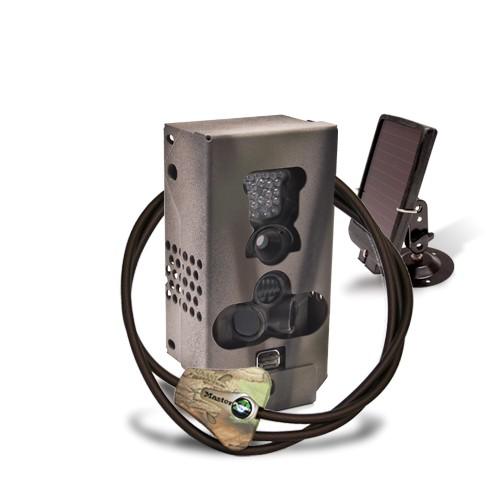Caméra alerte HD 1080P IR avec batterie solaire & box antivandal