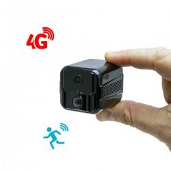 Micro caméra 4G HD 1080P longue autonomie avec détection de mouvement PIR et vision nocturne invisible 128 Go inclus
