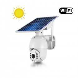 Caméra pilotable solaire IP Wifi HD 1080P waterproof Infrarouge accès à distance via iPhone Android