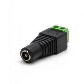 Connecteur alimentation Jack DC femelle avec bornier Ø extérieur 5.5 mm intérieur 2.1mm