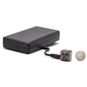 Kit mini caméra HD 1080P infrarouge invisible longue autonomie avec enregistrement sur carte microSD 32 Go