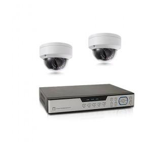 Kit de vidéosurveillance intérieur extérieur avec enregistreur IP 1To et 2 caméras dôme HD 1080P WIFI