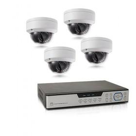 Kit de vidéosurveillance intérieur extérieur avec enregistreur IP 1To et 4 caméras dôme HD 1080P WIFI