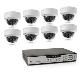 Kit de vidéosurveillance intérieur extérieur avec enregistreur IP 1To et 8 caméras dôme HD 1080P WIFI