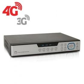 Enregistreur de vidéosurveillance 3G 4G hybride 16 voies IP 8 voies AHD 1080P avec 1 To