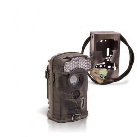 Dernière génération - Caméra de chasse autonome HD 1080P IR avec box anti-vandale
