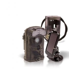 Dernière génération - Caméra de chasse autonome HD 1080P IR avec batterie solaire et box anti-vandale