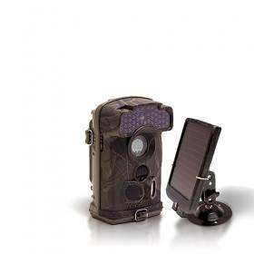 Dernière génération - Caméra de chasse autonome HD 1080P IR invisible avec batterie solaire