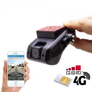 Enregistreur de conduite GSM 4G double caméra HD 1080P avec position GPS sur smartphone & PC