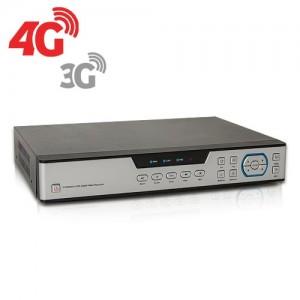 Enregistreur de vidéosurveillance 3G/4G hybride 4/16 voies IP / AHD 1080P avec 1 To