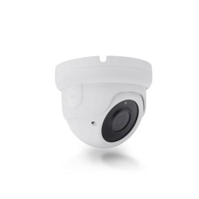 Caméra IP POE type dôme capteur 5 Mégapixels objectif varifocal 2.8-12 mm Infrarouge 30 mètres extérieur intérieure