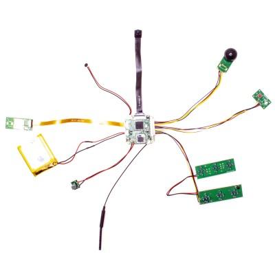 Module micro caméra IP WiFi HD 1080P avec infrarouge invisible détecteur de mouvement et enregistreur sur carte microSD à intégrer