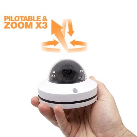 Mini caméra dôme pilotable PTZ HD 1080P Zoom ×3 vision nocturne extérieure IP66 analogique analogique AHD TVI CVI CVBS