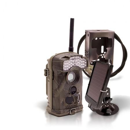 Dernière génération - Caméra de chasse alerte HD 1080P GSM envoi MMS e-mail IR avec batterie solaire et box anti-vandale