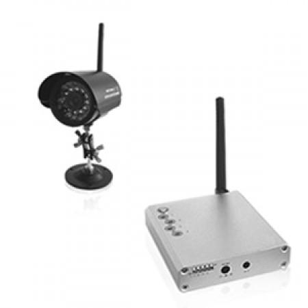 Kit caméra couleur et infra rouge sans fil CCD 420 lignes 2,4 ghz
