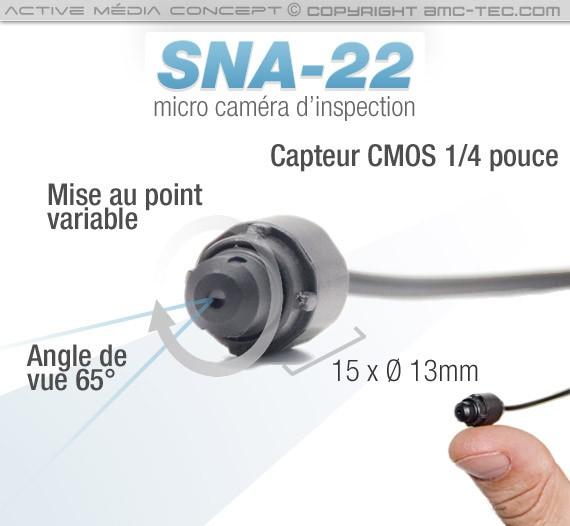 SNA-22: Micro caméra snake avec mise au point réglable.