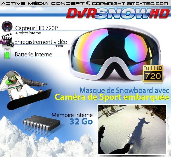 Masque caméra sport HD 720P 32Go