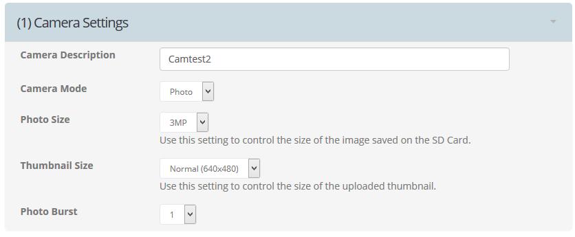 Paramètres caméra