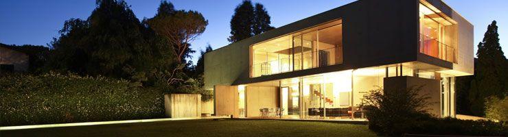 Une maison éclairée