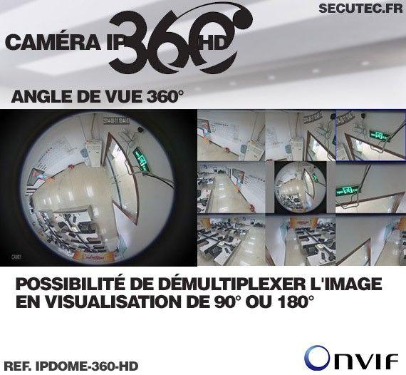 Image normale de la caméra, et image démultiplexée