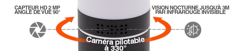 camera espion wifi pilotable